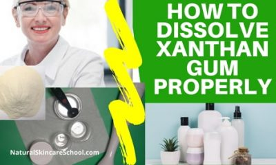 dissolving xanthan gum in water