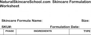 lotion formulation worksheet