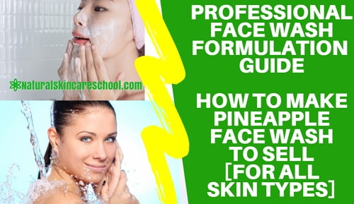 how to make face wash to sell