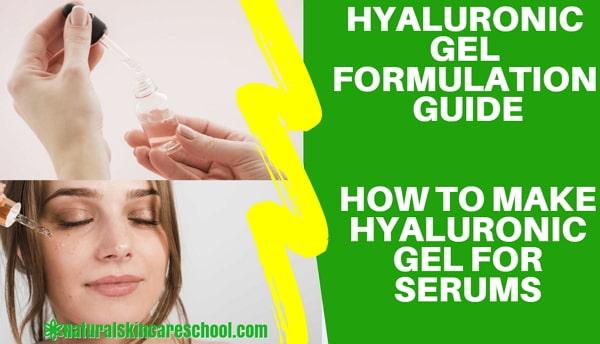 how to make hyaluronic acid gel serum