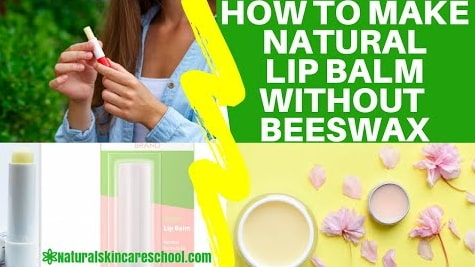 how to make lip balm without beeswax