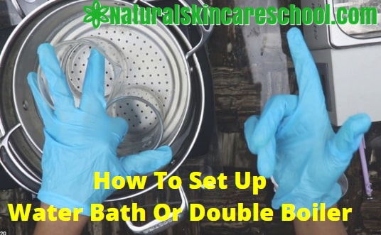 how to set up water bath double boiler