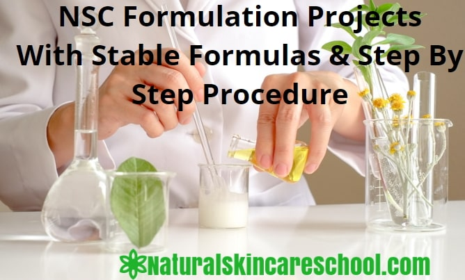 organic cosmetic formulation projects