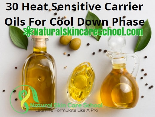 heat sensitive carrier oils