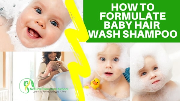 how to make natural baby hair wash shampoo