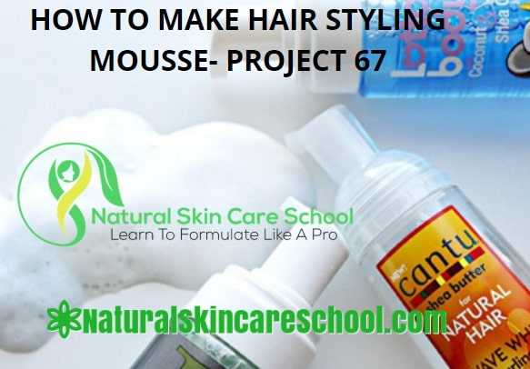 how to make hair mousse to sell