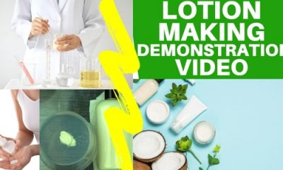 lotion making demonstration