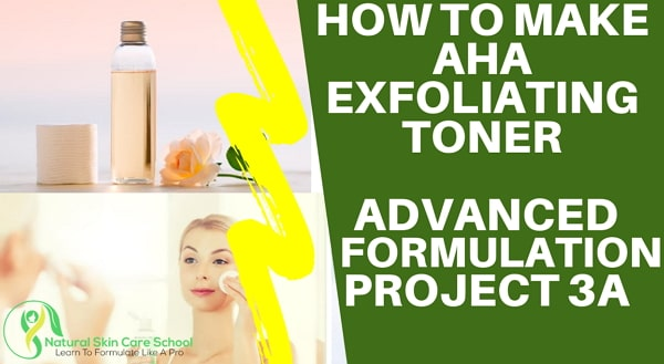 how to make aha exfoliating toner