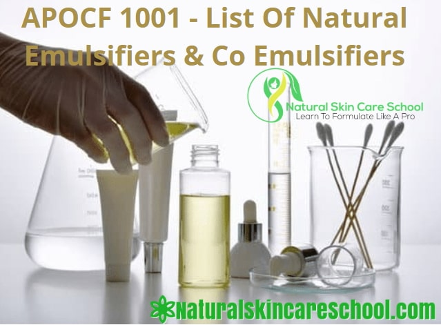 natural oil in water emulsifiers list