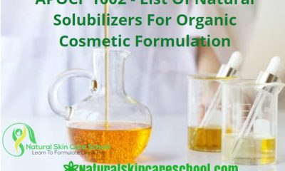 natural solubilizers organic cosmetic formulation