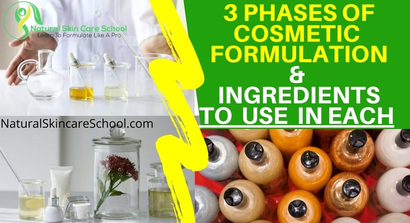 3 phases organic cosmetic formulation