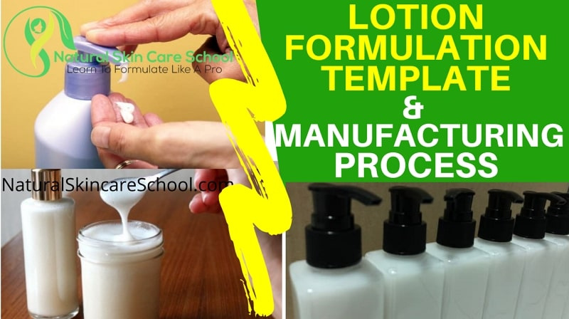 lotion formulation template manufacturing process