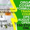 organic cosmetic formulation training course