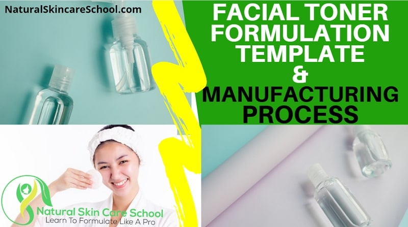 facial toner formulation template