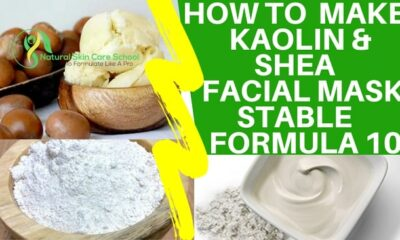 how to make shea butter kaolin face mask
