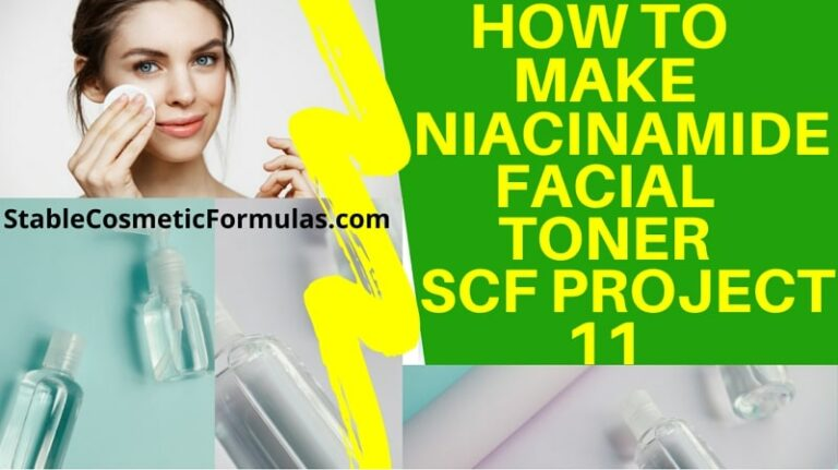 how to make niacinamide anti aging facial toner