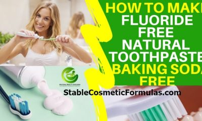 how to make homemade natural toothpaste without fluoride baking soda