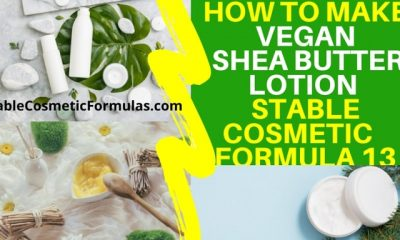 how to make shea butter vegan lotion