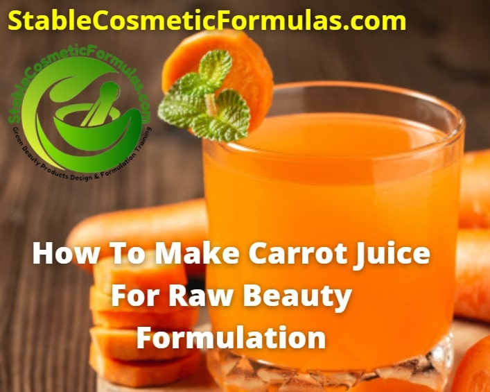 how to make organic carrot juice