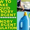 How To Make Liquid Laundry Detergent Soap formula