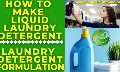 How To Make Liquid Laundry Detergent Soap formula