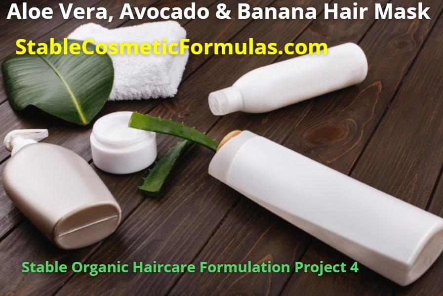 avocado aloe banana hair mask