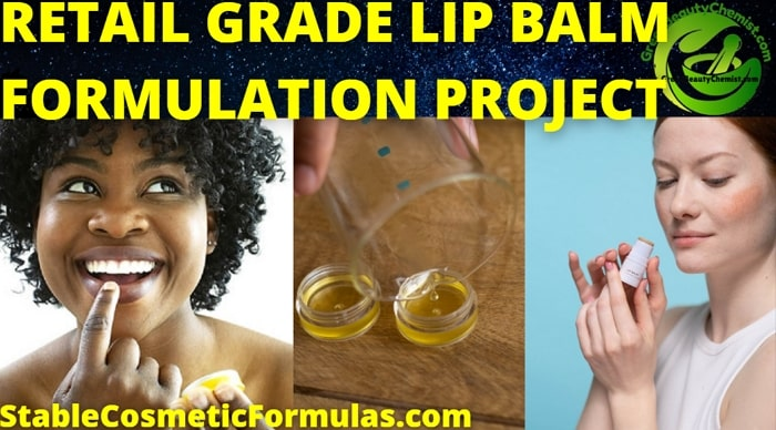 retail grade lip balm formula recipe